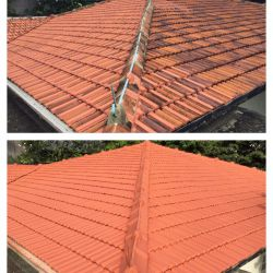 Re-Coating of Tile Roof