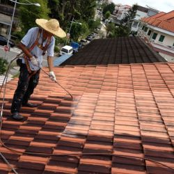 Roof Leakage Repair | Re-Coating of Tile Roof